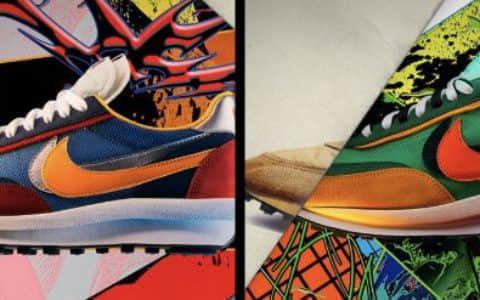 Sacai x Nike LDWaffle 货号:BV0073-400、BV0073-300