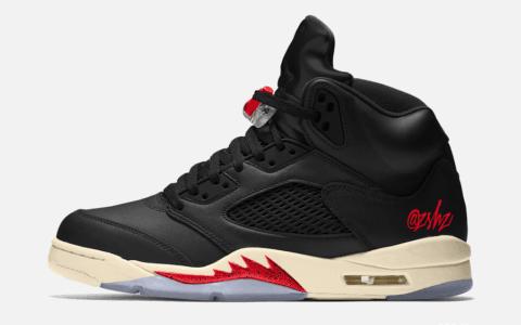 """庆祝Air Jordan 5诞生30周年!Air Jordan 5 SP """"Black Muslin""""全新配色曝光! 货号:CT8480-001"""