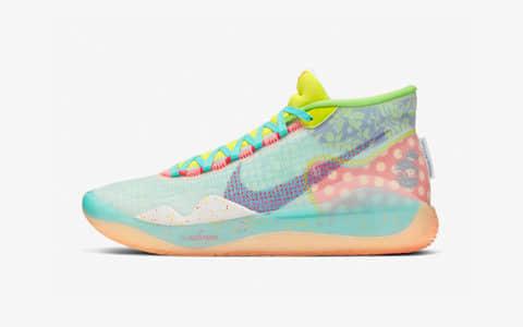 "Nike KD 12 ""EYBL"" 杜兰特KD骚气球鞋,货号:CK1195-300"