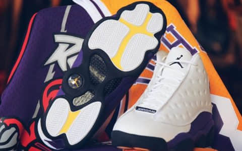 "Air Jordan 13 ""Lakers Rivals"" 货号:414571-105"