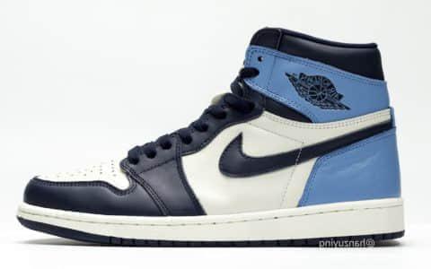 "Air Jordan 1 Retro High OG ""Obsidian"" 货号:555088-140"