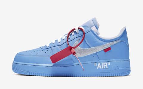 "Off-White x Nike Air Force 1""MCA""让人宁静的蓝色 货号:CI1173-400"