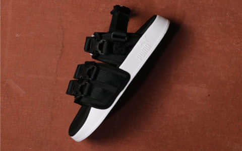 Puma Leadcat YLM HAN 彪马全黑凉鞋公司级高品质渠道货出口韩国 货号:365630-01