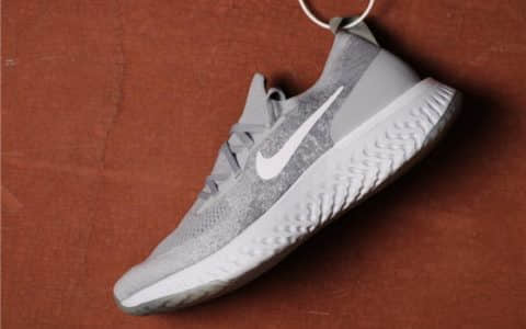 Nike Epic React Flyknit灰色 耐克瑞亚高品质真标原厂编织鞋面泡沫颗粒大底 货号:AQ0067-002