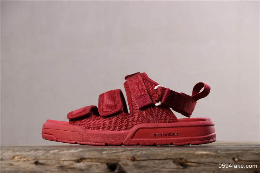NEW BALANCE新百伦魔术贴凉鞋全红真标全套模具组合大底 货号:SD3205EDD