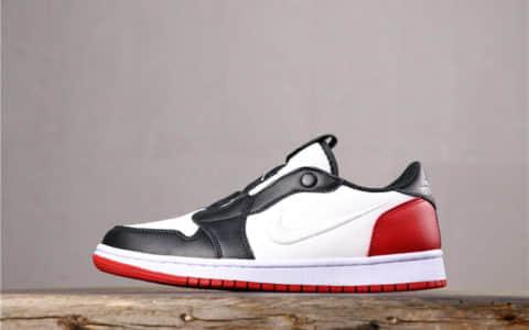 Air Jordan 1 Low Slip Wmns乔丹纯原级低帮黑脚趾原鞋开模全网最高版本 货号:AV3918-102