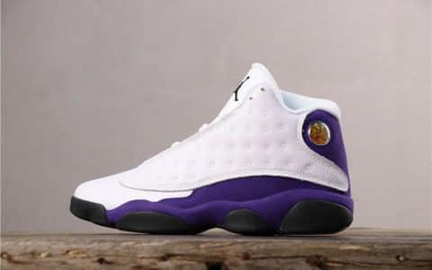 Air Jordan 13 Lakers Rivals乔丹13代篮球鞋外贸1.0版本官网全新二维码鞋标 货号:414571-105