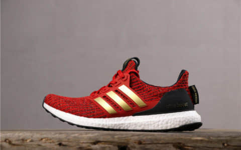 Adidas Ultra Boost x GOT阿迪达斯权游联名UB4.0红金真标高品质 真爆boost针织面爆米花大底缓震耐磨 货号:EE3710