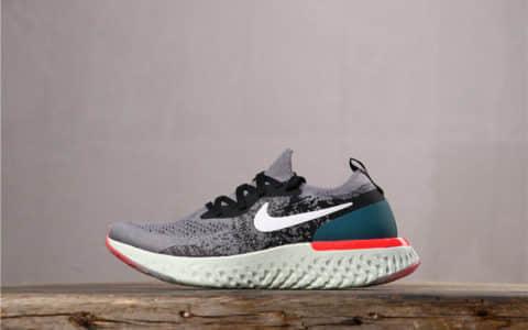 Nike Epic React Flyknit耐克瑞亚灰白绿真标带巴拿马 新科技缓震超轻量回弹慢跑鞋 货号:AQ0070-010