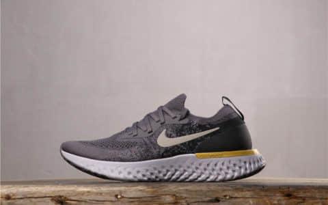 Nike Epic React Flyknit耐克瑞亚跑鞋棕黑金公司级带半码 高弹力大底原批次采购材料 货号:AQ0067-009