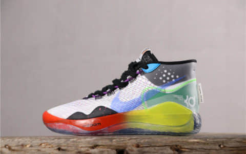 Nike Zoom KD12 EP耐克杜兰特12代黑彩虹公司级 市场最高版本 货号:AR4230-108