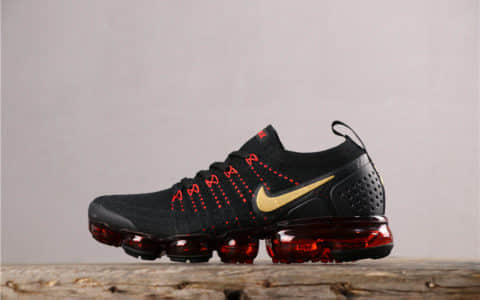 Nike Air VaporMax FLYKNIT 2耐克全掌气垫2.0黑红金纯原带半码 己亥中国猪年限定配色 货号:BQ7036-001