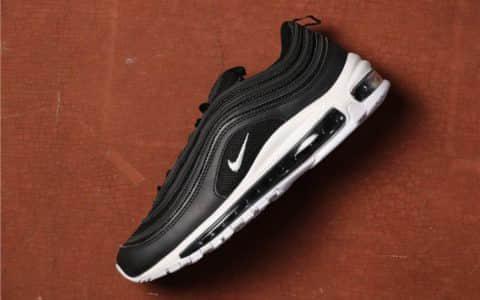 Nike Air Max 97 Premium黑色 耐克97子弹头全掌黑色气垫时尚复古鞋公司级 货号:921826-001