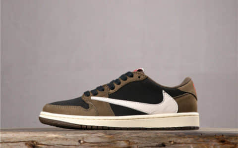 "Travis Scott x Air Jordan 1 Low""Dark Mocha""AJ1棕色反钩 货号:CQ4277-001"