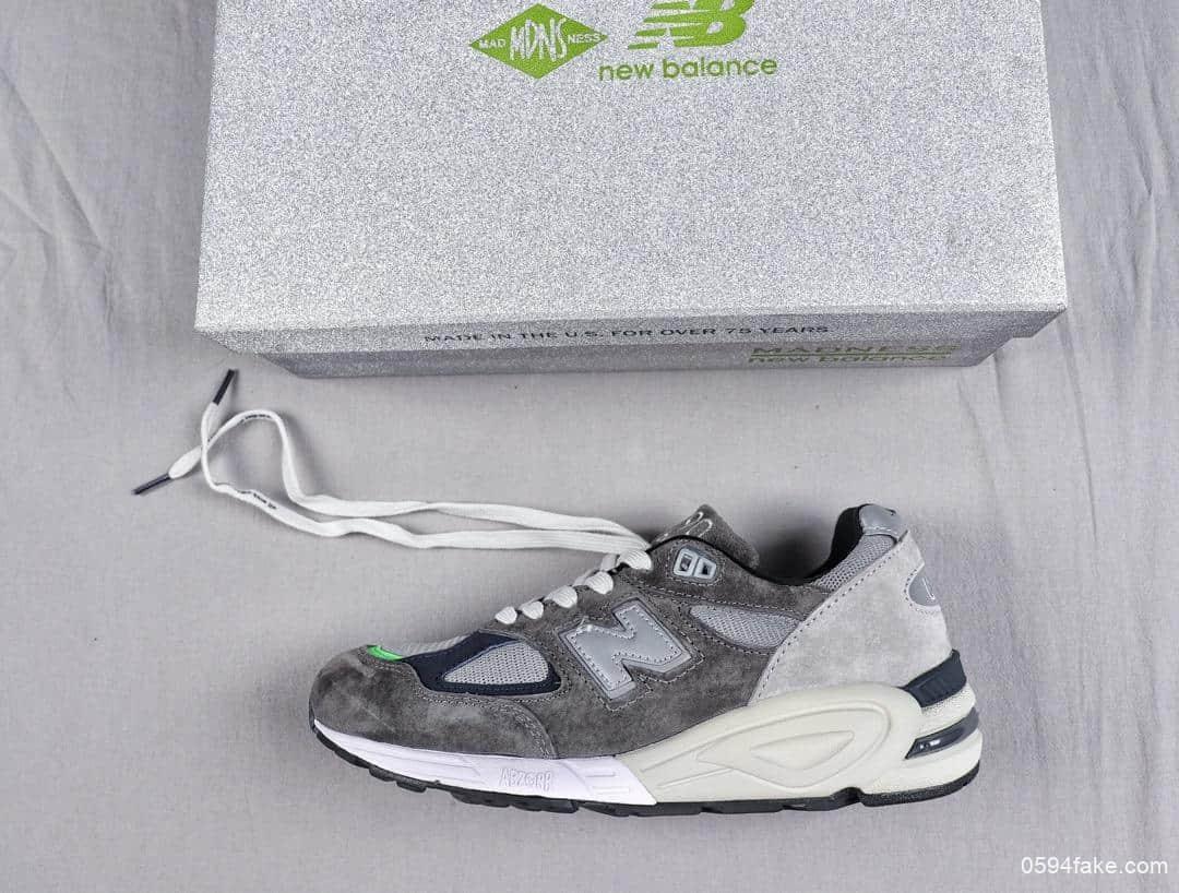 New Balance新百伦 x Madness 990系列联名新百伦纯原品质3M反光鞋盒NB990复古鞋 货号: