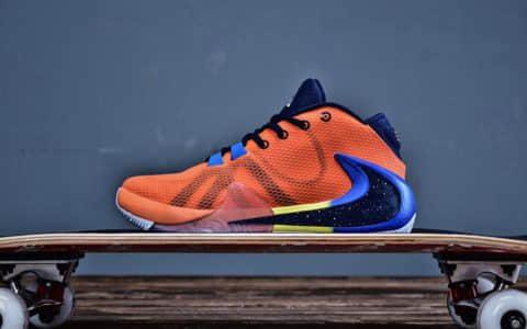 Nike Zoom Freak 1耐克反钩字母哥个人LOGO设计全新渐变橙色签名鞋 货号:BQ5422-800