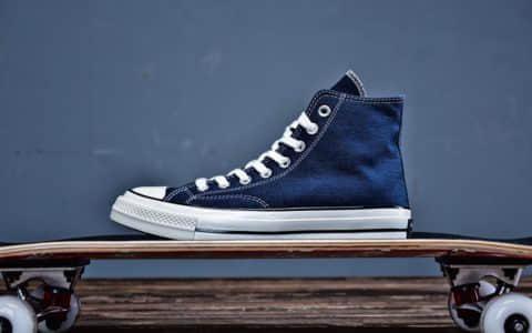 Converse Chuck 70 Pop匡威真标硫化底复古牛仔蓝高帮情侣鞋 货号:164945C