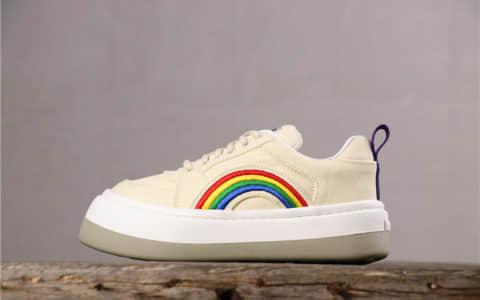 Eytys Sonic Canvas Sneakers米白彩虹瑞典小众品牌Lisa同款彩虹鞋头层羊皮内里 货号:0617