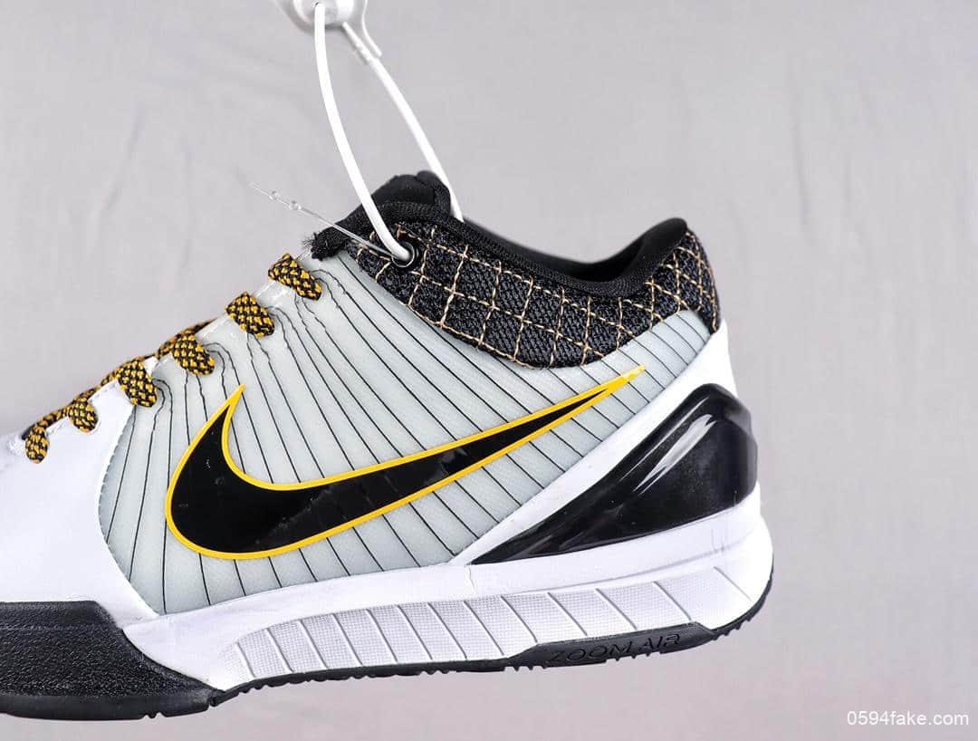 科比Nike Zoom Kobe 4科比4代公司级高品质原盒原标实战篮球战靴 货号:AV6339-101