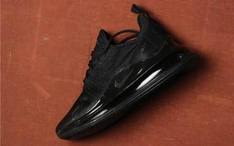Nike Air Max 720全黑 耐克高品质真标气垫720网面透气运动鞋 货号:AR9293-026