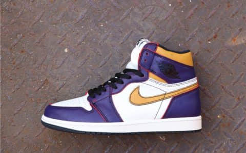 Nike SB x AirJordan1 High OG Court Purple刮刮乐黄紫 乔丹联名耐克SB原装TOP版本原厂复刻 货号:CD6578-507
