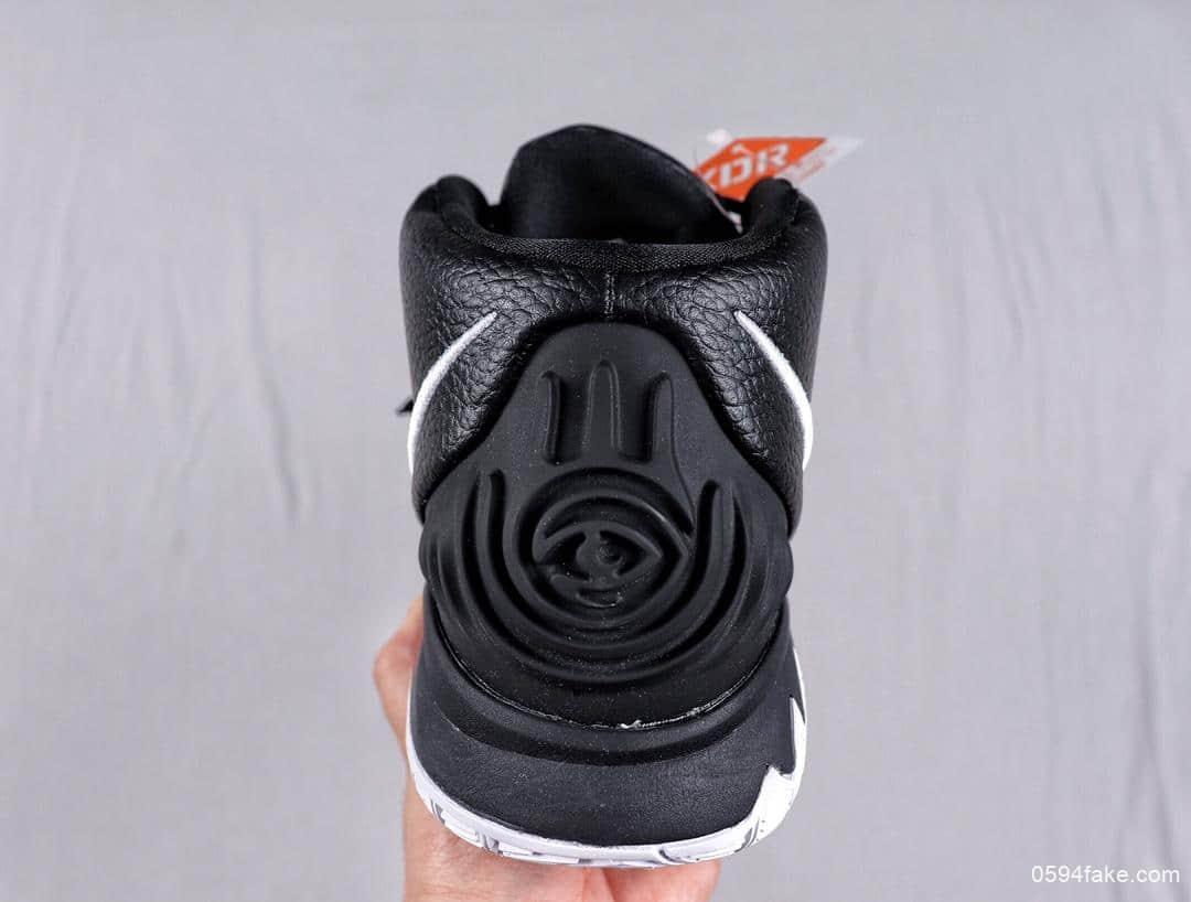 耐克Nike Kyrie 6 PE Black White Yellow欧文黑白荧光绿泼墨欧文6代室内休闲运动中帮篮球鞋 货号:BQ9377-001