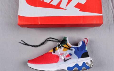 耐克Nike Presto React公司级高桥盾套脚系带百搭慢跑鞋 货号:CK2956-601