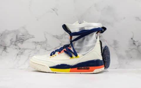耐克Nike Air Jordan 3 RTR EXP Lite公司级AJ3白蓝配色透明蝉翼休闲穿搭文化篮球中筒靴  货号:BQ8394-100