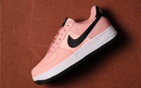 Nike Air Force 1 VDAY黑粉玫瑰粉 耐克空军一号情人节真标低帮休闲板鞋 货号:BQ6980-600