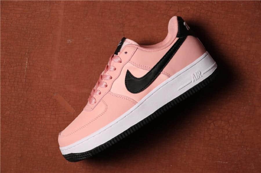 Nike Air Force 1 VDAY黑粉玫瑰粉 耐克空军一号情人节真标低帮休闲板鞋 货号:BQ6