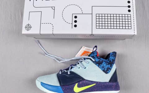 耐克Nike PG3保罗乔治3代鸳鸯配色实战篮球鞋纯原版本原盒真标 货号:BQ6242-007