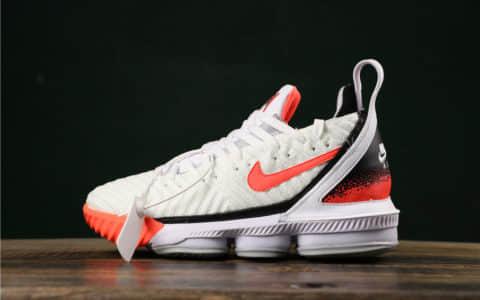 耐克LeBron XVI Hot Lava詹姆斯16代白粉热熔岩纯原版本实战运动篮球鞋 货号:CI1522-100
