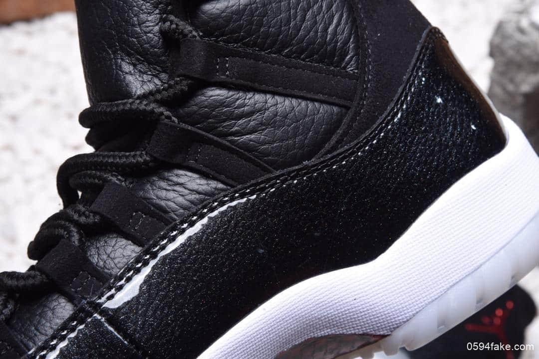 乔丹Nike Air Jordan 11 Retro AJ11纯原真碳纤维版本乔11大魔王低帮实战篮球鞋 货号:378037-002