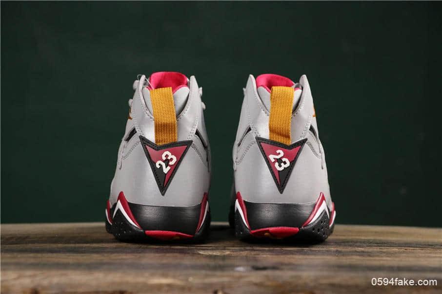 乔丹Air Jordan 7 Reflections of A Champion纯原版本反射银三连冠乔丹7代高帮实战篮球鞋 货号:BV6281-006
