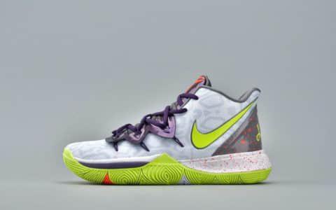 Nike Kyrie 5 EP白绿紫 耐克欧文5代灭世纯原曼巴精神小丑原鞋开模真气垫实战篮球鞋 货号:AO2919-102