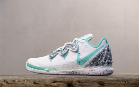 Nike Kyrie 5 EP白浅绿 耐克欧文5代公司级原盒原标法蒂玛之手实战篮球鞋 货号:AO2919-908