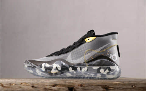 Nike Zoom KD 12 EP黑灰 耐克杜兰特12代原鞋开模公司级男子实战篮球鞋 货号:AR4230-109