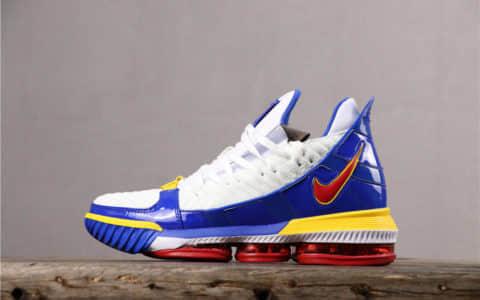 Nike Lebron Xvi EP红蓝 耐克真标版本勒布朗詹姆斯16代超人配色詹皇最新战靴改款 货号:CD2450-100