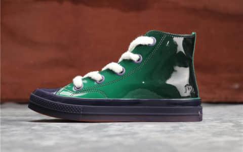 Converse Chuck 70 x JW ANDERSON果冻绿 匡威联名JW真标彩色皮革高帮 货号:162287C