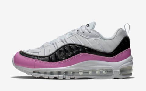 """Nike Air Max 98 SE WMNS""""China Rose""""耐克Max98全新配色中国玫瑰 货号:AT6640-100"""