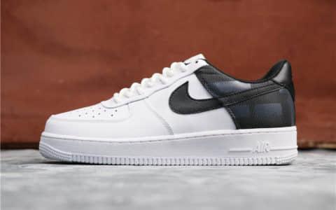 Nike Air Force 1 07 LV8耐克空军一号新配色白黑补丁公司级高品质 货号:AV8363-100