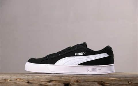 Puma Smash V2 Vulc CV彪马开口笑帆布鞋黑白公司级真标带半码 货号:365968-01