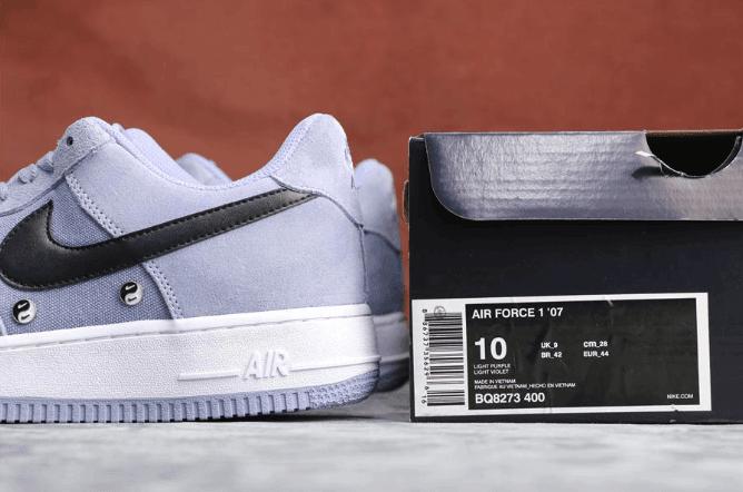Nike Air Force 1 Have A Nike Day淡紫黑外星人 耐克真标带半码空军一号全掌air sole气垫网布透气货号:BQ8273-400