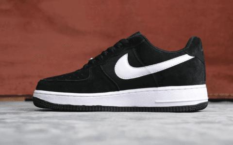 Nike Air Force 1 Have A Nike Day黑白樱桃 耐克阴阳标空军一号真标带半码翻毛皮正确版 货号:BQ8273-001