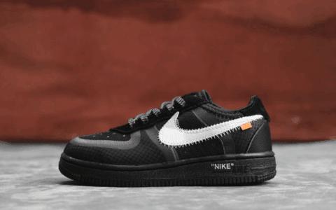 Nike Air Force 1 TD酷黑 耐克空军一号高品质真标OW联名2.0童鞋 货号:BV0853-001