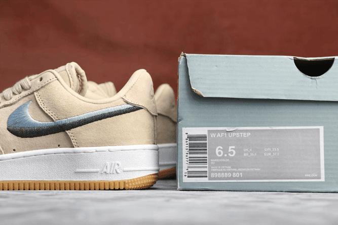 Nike Air Force 1 UPSTEP裸粉 耐克空军一号公司级双色拼接刺绣官方同步更新 货号:898889-801