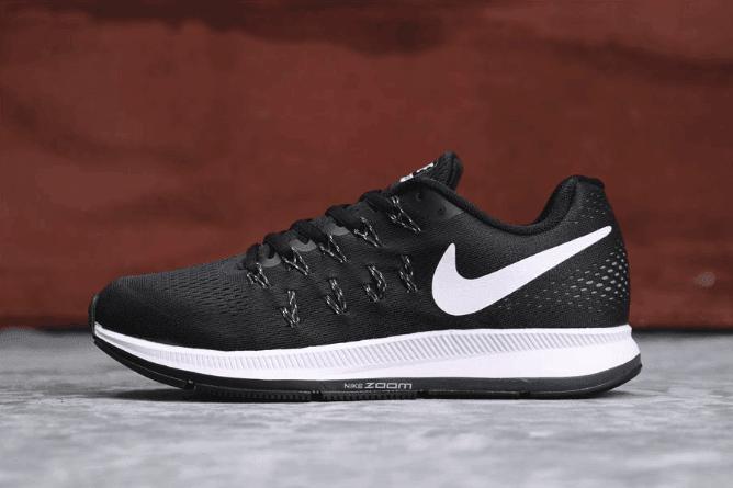 Nike Air Zoom Pegasus 33 黑白色 耐克真标高品