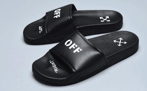 OFF-WHITE OFFCLAL SHOE BOX OW联名黑白色拖鞋真标品质 货号:191607M234004
