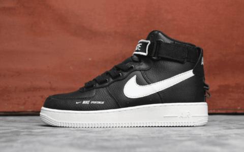 "Nike Air Force 1 ""High""黑白 耐克板鞋真标高品质空军一号 货号:AJ7311-300"