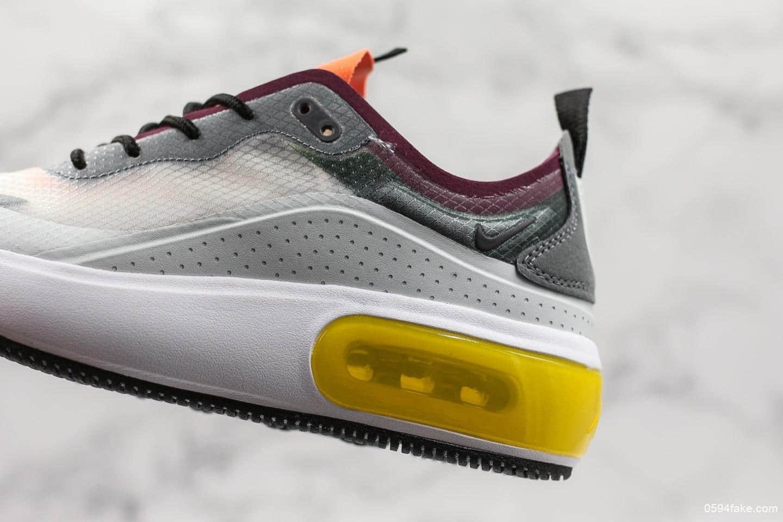 耐克Nike Air Max Dia Grey Multi Womens公司级最新款透气跑鞋面薄如蝉翼时尚透气运动鞋 货号:AV4146-001